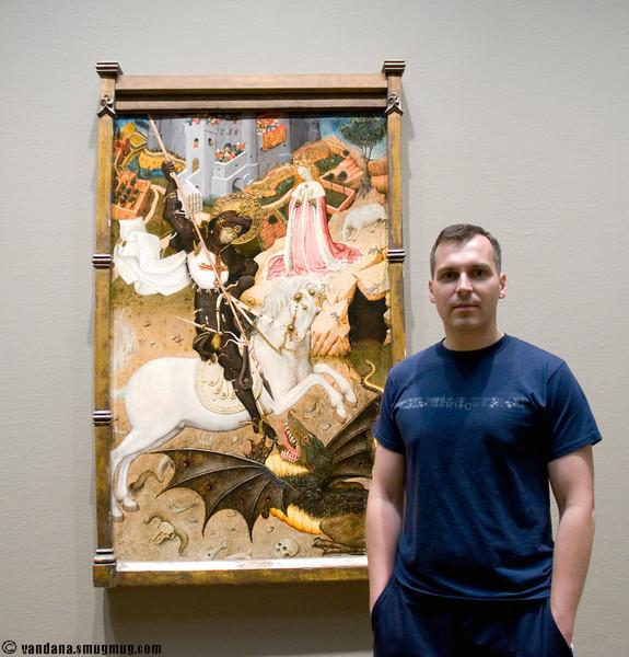 Adam slays the dragons ! at the Art Institute, Chicago
