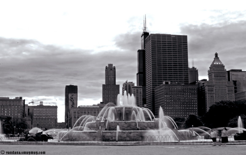 The Buckingham fountain, Chicago