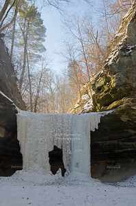 Frozen Falls in Lasalle Canyon