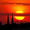 April 12, 2011 - Sunset at Peoria, IL