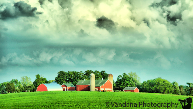June 11, 2010 - The barn in the storm