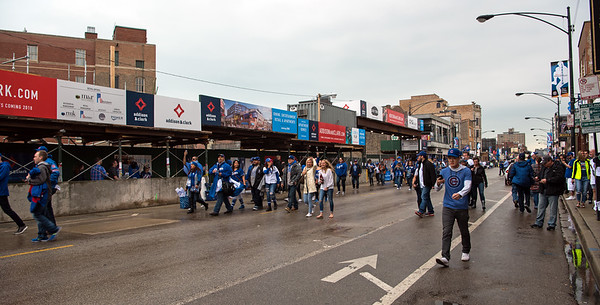LA Dodgers fans in Chicago