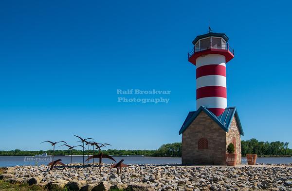 Lighthouse in Grafton, Illinois