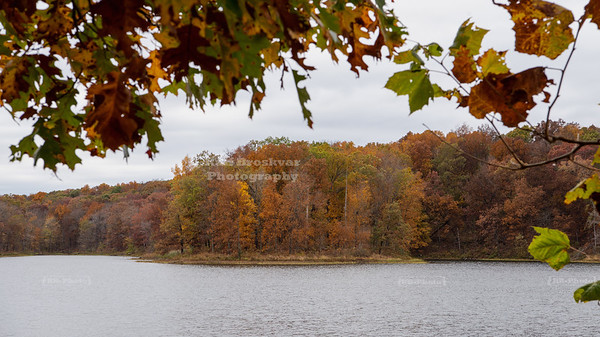 View across Devils Kitchen Lake, Illinois, USA