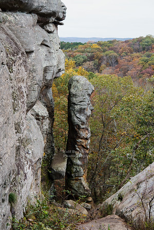 Devil's Smokestack in the Garden of the Gods Wilderness in Shawnee National Forest, Illinois, USA