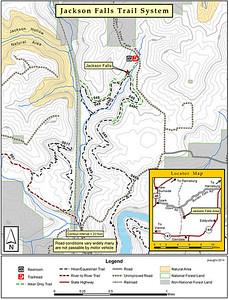 Jackson Falls and Map