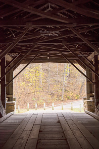Interior of the Covered bridge over Little Mary's river near Chester, Illinois
