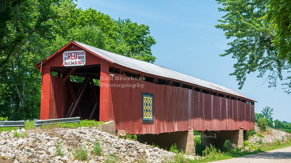 Old Red Covered Bridge, Gibson County, Indiana