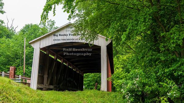 Big Rocky Fork Covered Bridge, Parke County, Indiana