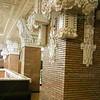 Columns with terra cotta molding