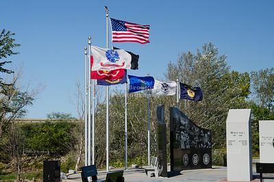 Veterans Memorial Plaza in Dubuque, Iowa