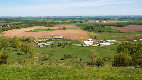 Mississippi Valley Scenic Overlook in Balltown, Iowa