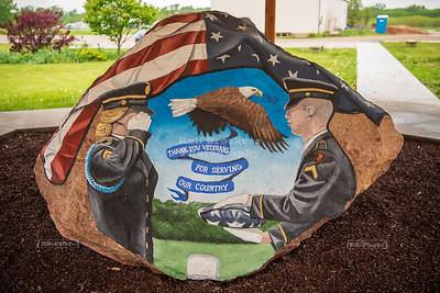 Iowa County Freedom Rock in Gateway Park and Preserve, Marengo, Iowa