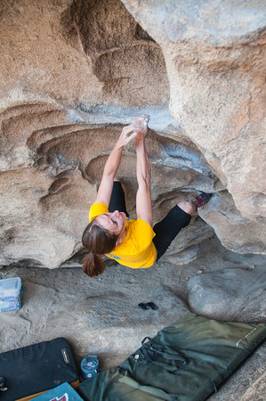 Bonnie flashing Caveman Finish