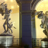 statues in front of Monte Carlo hotel & casino