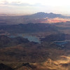 View from the plane over Lake Meade, near Las Vegas