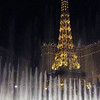 The Eiffel Tower at Paris.  We went for a drink in the restuarant just above the top of the water spray.<br /> <br /> Vegas 2008-09
