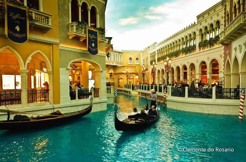 Gondola ride at the Venetian Casino, Las Vegas, USA