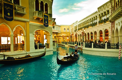 Gondola ride at the Venetian Casino, Las Vegas, USA