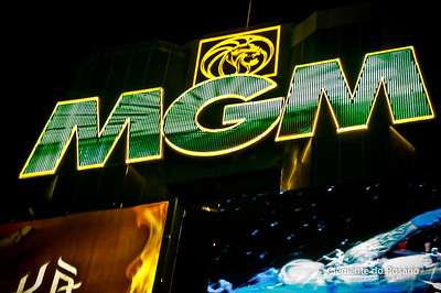 MGM Casino Neon Sign, Las Vegas, USA