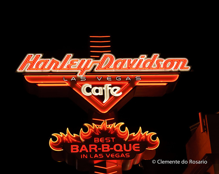 Harley Davidson Cafe Neon Sign, Las Vegas,USA