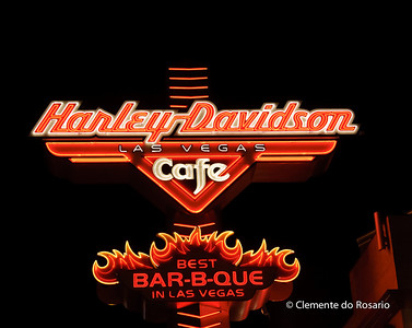 Harley Davidson Cafe Neon Sign, Las Vegas,USA