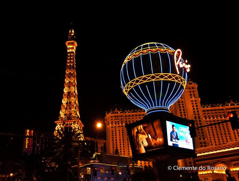 Paris Casino & Hotel  at night, Las Vegas,USA