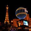 Paris Casino & Hotel  at night, Las Vegas,USA