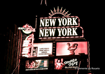 Neon signs for New York New York Casino & Hotel, Las vegas, USA