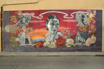 Dolores del Rio - 1990 by Alfred de Batuc | Hudson Ave. at Hollywood Blvd. | 2005