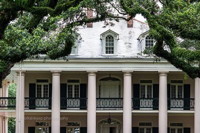 Back of Oak Alley Plantation House