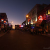 Looking up Beale street at dusk.