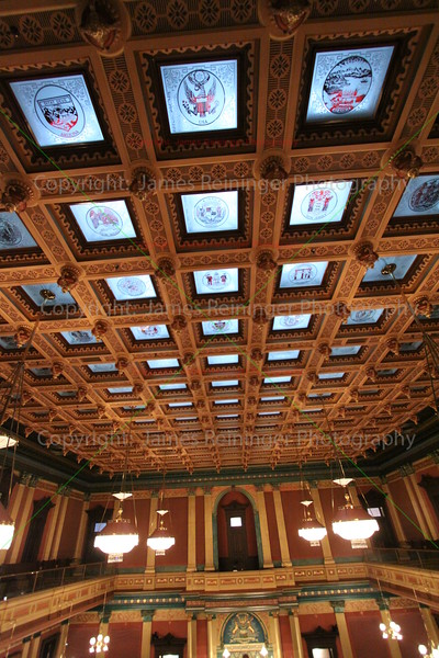 Glass Ceiling of the House Chamber (From the 4th floor balcony)