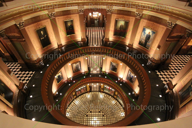 Rotunda (Looking down from the 5th floor)