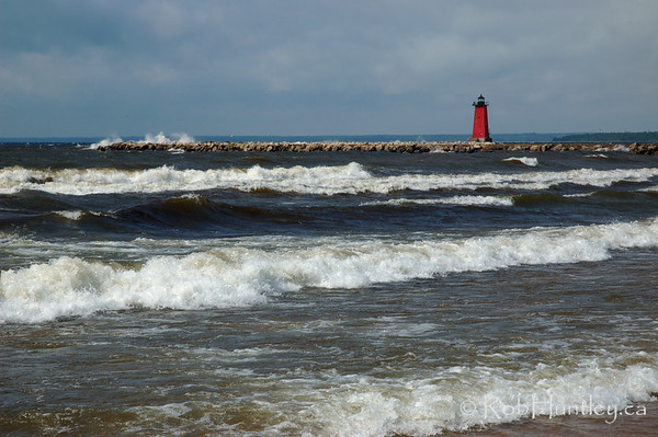 Manistique Lighthouse near Manistique in northern Michigan.