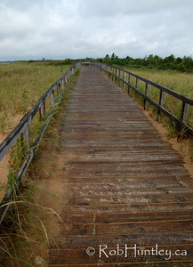 Boardwalk near Manistique Lighthouse, Manistique in northern Michigan. © Rob Huntley