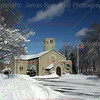 Fort Snelling Chapel in Snow