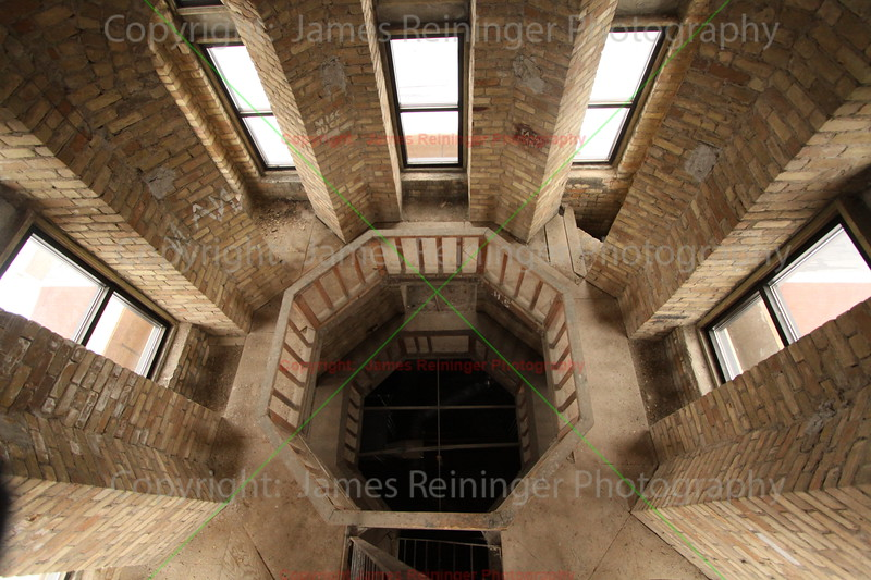 Inside the old clock tower of Le Sueur County Courthouse