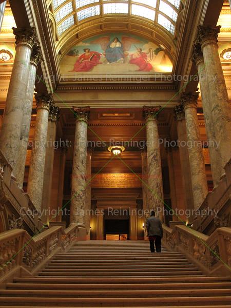 Staircase leading to the Minnesota Supreme Court.
