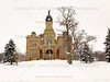 Blue Earth County Courthouse in Snow