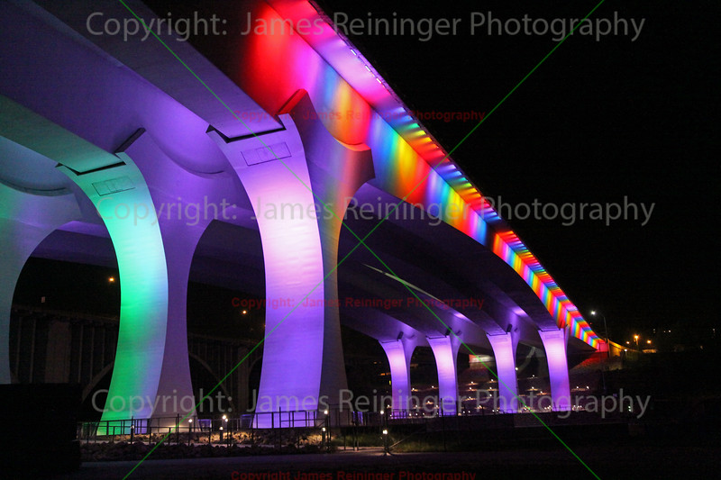 35W Bridge in Rainbow Colors