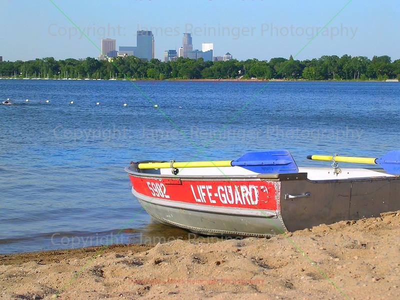 Lifeguard boat on Lake Calhoun
