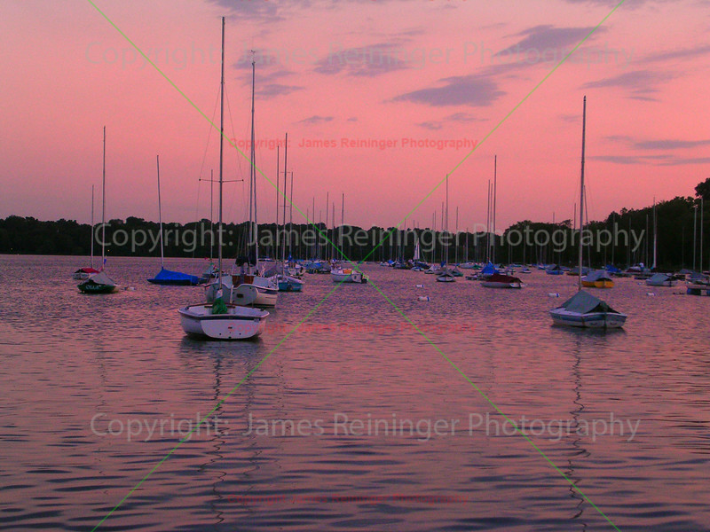 Sailboats of Lake Calhoun at Sunset