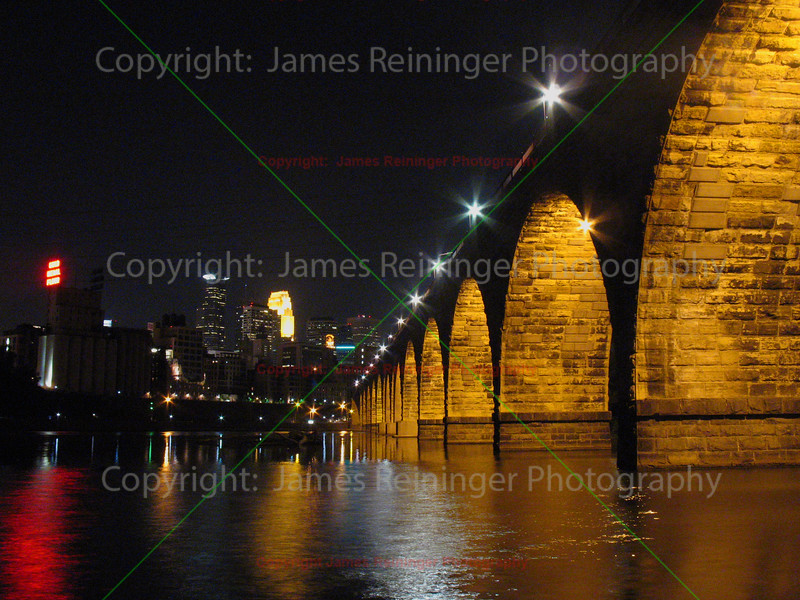 Stone Arch Bridge at Night