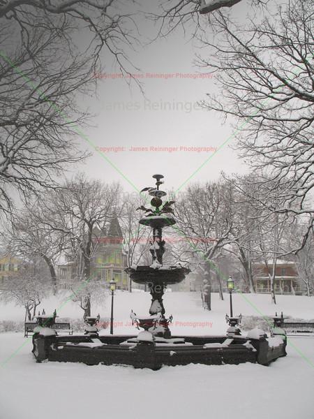 Irvine Park in Snow