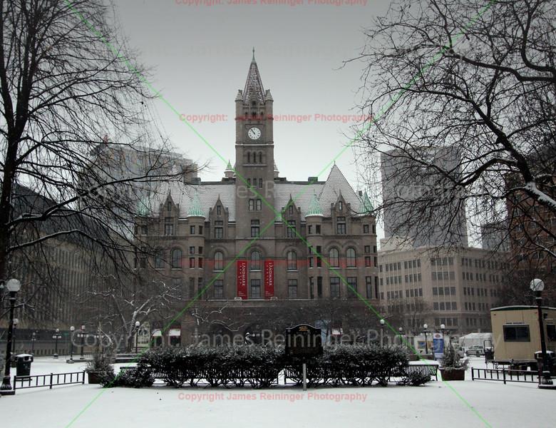 Landmark Center in Snow