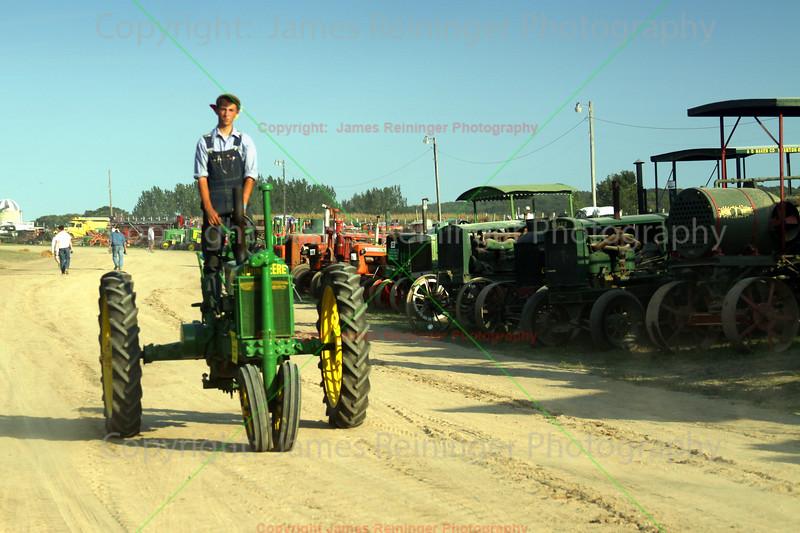 Driving a John Deere Tractor