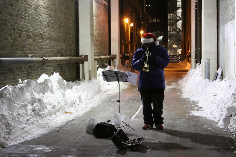 Christmas Trumpet Player