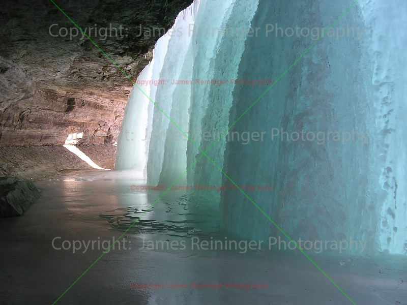 Ice Columns of Minnehaha Falls