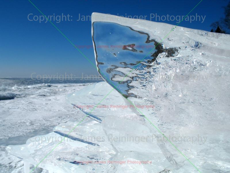 Ice Sheet on Lake Superior shore line